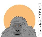 large gorilla mammal animal...   Shutterstock .eps vector #1821917243