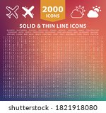 set of 2000 high quality thin... | Shutterstock .eps vector #1821918080