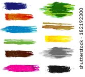 set of artistic colorful brush... | Shutterstock .eps vector #182192300