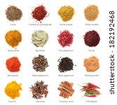 different spices. isolated on... | Shutterstock . vector #182192468
