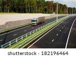 asphalt road through the green...   Shutterstock . vector #182196464