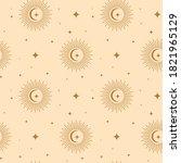 elegant celestial seamless...   Shutterstock .eps vector #1821965129