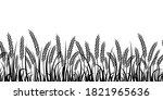 vector silhouette of wheat.... | Shutterstock .eps vector #1821965636