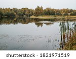 Autumn Landscape At  Quiet Lak...