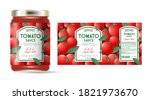 label and packaging of tomato... | Shutterstock .eps vector #1821973670