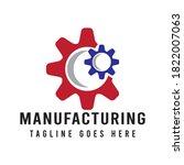 gear manufacturing service ... | Shutterstock .eps vector #1822007063