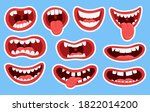variations of the mouths of... | Shutterstock .eps vector #1822014200