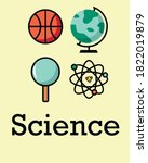 science poster in your room  | Shutterstock .eps vector #1822019879
