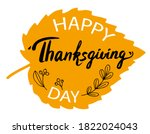 happy thanksgiving day card... | Shutterstock .eps vector #1822024043