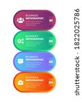 colorful infographic steps flat ... | Shutterstock .eps vector #1822025786