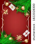 merry christmas wish and happy... | Shutterstock .eps vector #1822028300