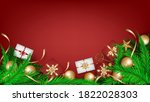 merry christmas wish and happy... | Shutterstock .eps vector #1822028303