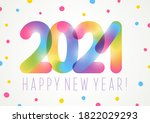 new year concept with color... | Shutterstock .eps vector #1822029293