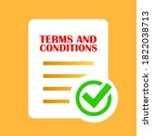 terms and conditions agreement... | Shutterstock .eps vector #1822038713