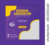 school education admission... | Shutterstock .eps vector #1822042160