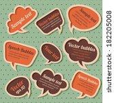 set of retro speech bubbles | Shutterstock .eps vector #182205008