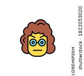 confused thinking emoticon... | Shutterstock .eps vector #1822053020