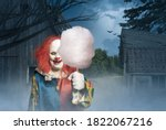 A Crazy Clown With Cotton Candy ...