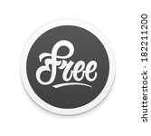 free label or button. vector | Shutterstock .eps vector #182211200