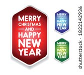 merry christmas and happy new... | Shutterstock .eps vector #1822142936