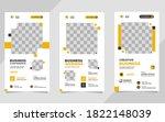 set of minimalist social media... | Shutterstock .eps vector #1822148039