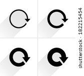 4 arrow icon. set 01. | Shutterstock .eps vector #182215454