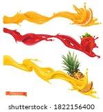sweet splashes. orange ...   Shutterstock .eps vector #1822156400