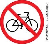 No Bicycles Warning Sign....