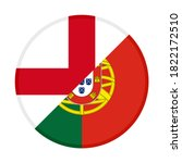 round icon with england and... | Shutterstock .eps vector #1822172510