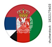 round icon with serbia and ... | Shutterstock .eps vector #1822175603