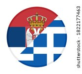 round icon with serbia and... | Shutterstock .eps vector #1822177463