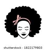 black african american girl... | Shutterstock .eps vector #1822179803