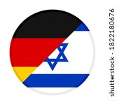 round icon with germany and... | Shutterstock .eps vector #1822180676