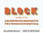 classic lettering  vintage font ... | Shutterstock .eps vector #1822185260