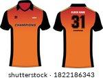 sports cricket t shirt jersey... | Shutterstock .eps vector #1822186343