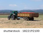 Agriculture Field. Tractor With ...
