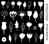 vector collection of doodle... | Shutterstock .eps vector #1822192610