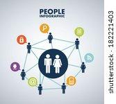 people design over gray... | Shutterstock .eps vector #182221403