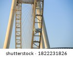 Close Up Shot Of Dubai Ferris...