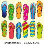 hand drawn collection of flip... | Shutterstock .eps vector #182225648
