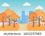 landscape in autumn nature... | Shutterstock .eps vector #1822257083