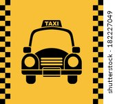 taxi design over yellow... | Shutterstock .eps vector #182227049