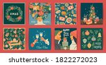 set of christmas and happy new... | Shutterstock .eps vector #1822272023