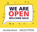 we are open  welcome back after ... | Shutterstock .eps vector #1822275920