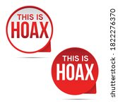 hoax label red sign vector | Shutterstock .eps vector #1822276370