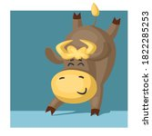 funny bull or cow  symbol of... | Shutterstock .eps vector #1822285253