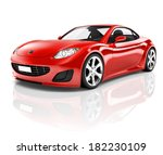 Stock photo  d red sports car 182230109