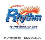 rhythm is the soul of life...   Shutterstock .eps vector #1822303100