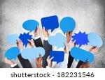 diverse hands holding blue... | Shutterstock . vector #182231546