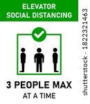 elevator social distancing 3...   Shutterstock .eps vector #1822321463